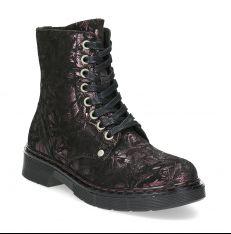 3b96bcd6a Členková kožená detská obuv so vzorom. Členkové topánky Mini B